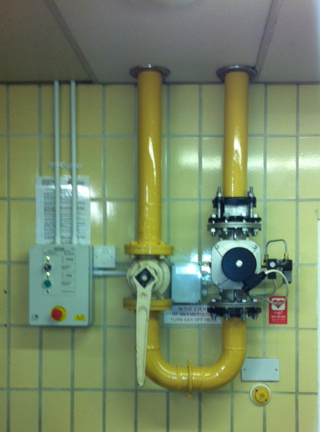 Kitchen Gas Proving System (Scarborough Spa Complex)